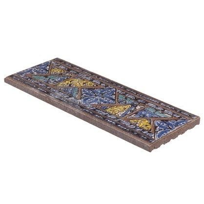 Вставка-подступенник Gresan Natural La Balma Azul 12х33 см клинкер цвет коричневый