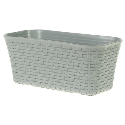 Купить Ящик балконный 400 мм ротанг цвет серый дешевле