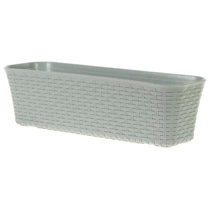 Купить Ящик балконный 600 мм ротанг цвет серый дешевле