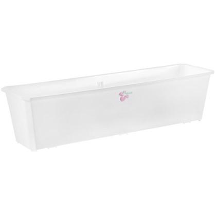 Купить Ящик балконный белый 60 см пластик дешевле