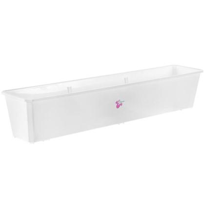 Купить Ящик балконный белый 80 см пластик дешевле