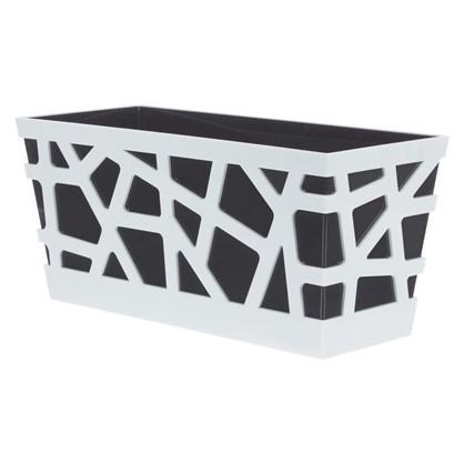 Купить Ящик балконный Мозаика цвет антрацит дешевле