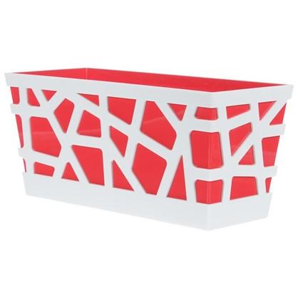 Купить Ящик балконный Мозаика цвет красный дешевле