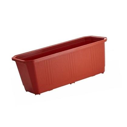 Купить Ящик балконный терракот 40 см пластик дешевле
