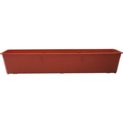 Ящик балконный терракот 80 см пластик