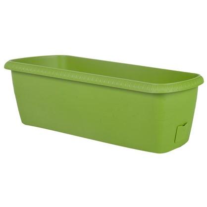 Ящик балконный Жардин зелёный 60 см пластик