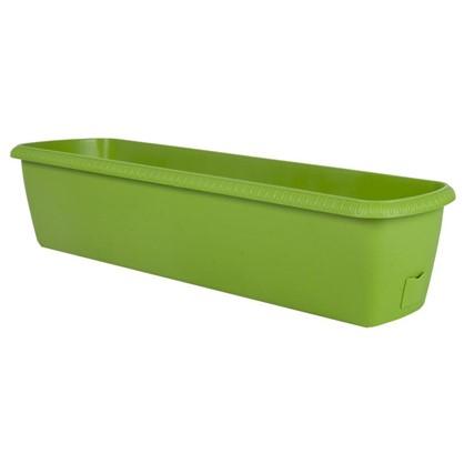 Купить Ящик балконный Жардин зелёный 80 см пластик дешевле