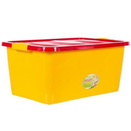 Ящик для игрушек 600x400x280 мм 44 л цвет желто-красный