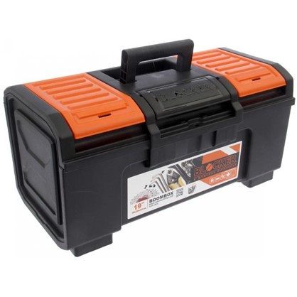 Ящик для инструмента Boombox 19 270х240х480 мм пластик цвет черный/оранжевый