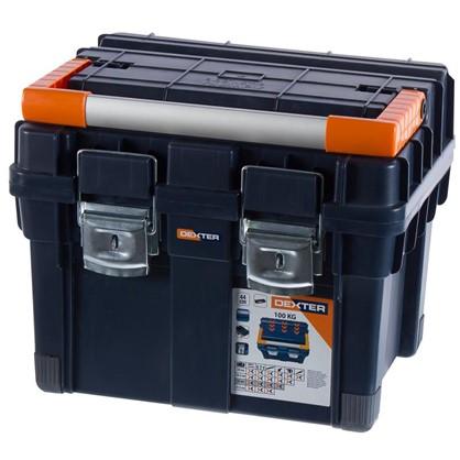 Купить Ящик для инструмента Dexter HD Compact1 450х350х350 мм пластик цвет синий дешевле