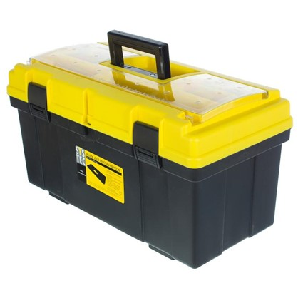 Ящик для инструмента Systec 290х300х590 мм пластик цвет черно-желтый