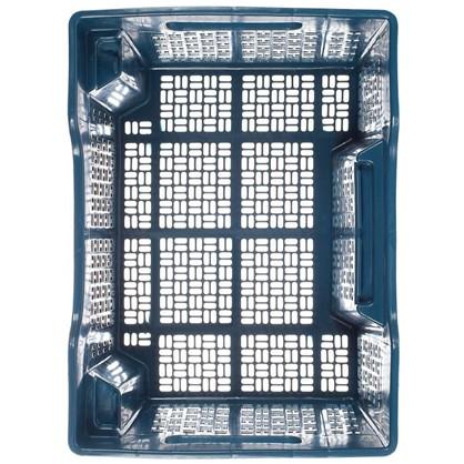 Ящик полимерный многооборотный 40х30х22 см пластик цвет синий