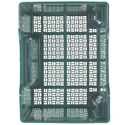 Купить Ящик полимерный многооборотный 40х30х22 см пластик цвет зеленый дешевле