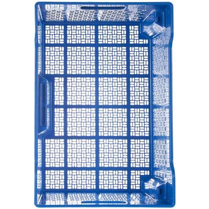 Ящик полимерный многооборотный 60х40х22 см пластик цвет синий
