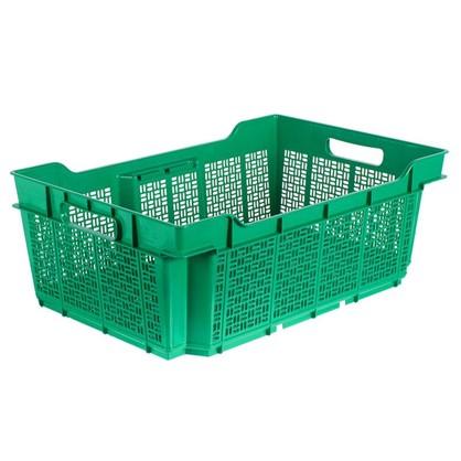 Ящик полимерный многооборотный 60х40х22 см пластик цвет зеленый