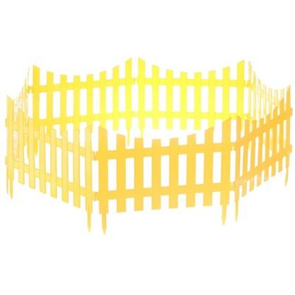 Купить Забор декоративный №7 3 м цвет жёлтый дешевле