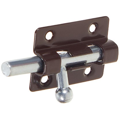 Задвижка прямоугольная Левша ШП-40 60х30 мм цинк/сталь цвет коричневый