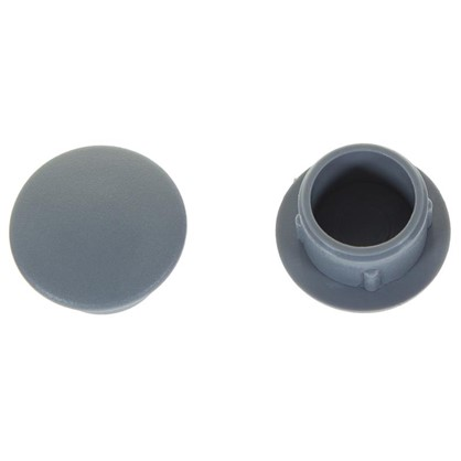 Купить Заглушка для дверных коробок 12 мм полиэтилен цвет серый 20 шт. дешевле