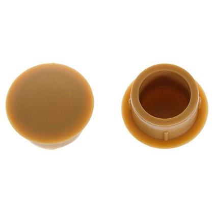Заглушка для дверных коробок 14 мм полиэтилен цвет бук 20 шт.