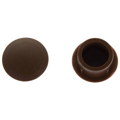 Заглушка для дверных коробок 14 мм полиэтилен цвет коричневый 20 шт.