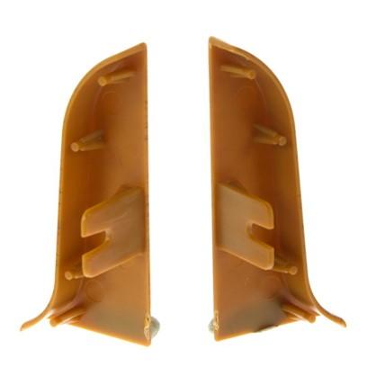 Заглушка для плинтуса левая и правая 026 Орех тёмный 58 мм 2 шт.