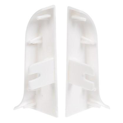 Купить Заглушка для плинтуса левая и правая 55 мм цвет белый дешевле