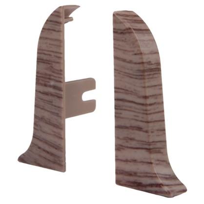 Заглушка для плинтуса левая и правая Дуб Деревенский 58 мм 2 шт.