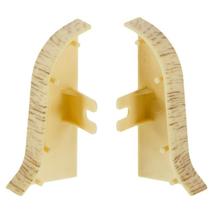 Купить Заглушка для плинтуса левая и правая Королевский Белый 47 мм 2 шт. дешевле