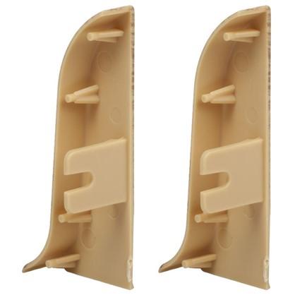 Купить Заглушка для плинтуса левая и правая Осина Европейская 55 мм 2 шт. дешевле