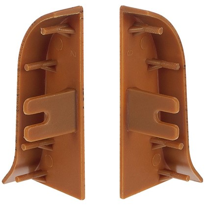 Заглушка для плинтуса левая и правая Осина Обыкновенная 47 мм 2 шт.