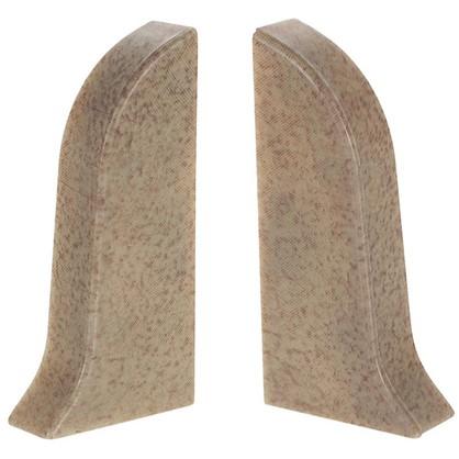 Заглушка для плинтуса левая и правая Светлый мрамор 47 мм 2 шт.