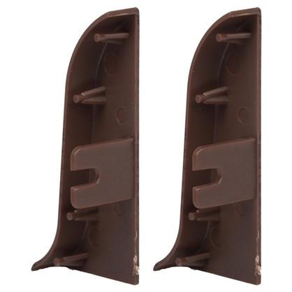 Купить Заглушка для плинтуса левая и правая Венге 55 мм 2 шт. дешевле