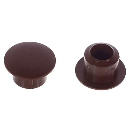 Заглушка на отверстие 8 мм полиэтилен цвет коричневый 40 шт.