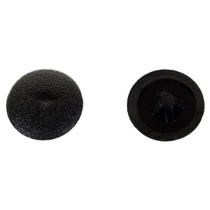 Заглушка на шуруп PZ 2 12 мм полиэтилен цвет черный 50 шт.