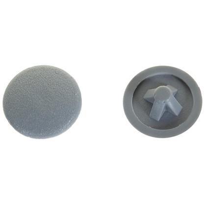 Заглушка на шуруп PZ 3 15 мм полиэтилен цвет серый 50 шт.
