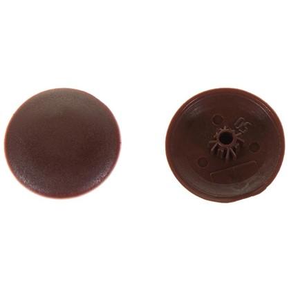 Заглушка на шуруп-стяжку Hex 5 мм полиэтилен цвет коричневый 40 шт.