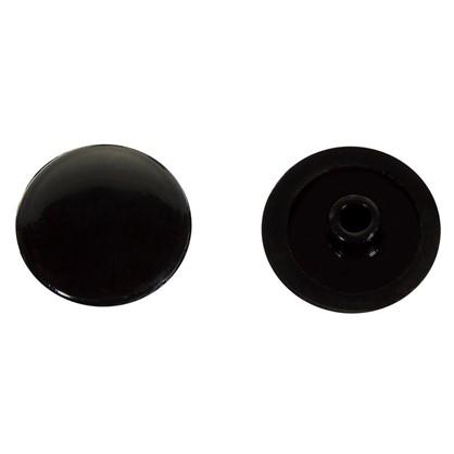 Заглушка на шуруп-стяжку Hex 7 мм полиэтилен цвет черный 50 шт.