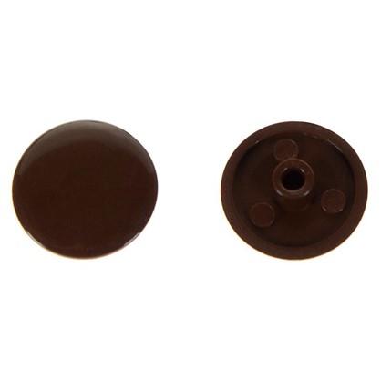 Заглушка на шуруп-стяжку Hex 7 мм полиэтилен цвет коричневый 50 шт.