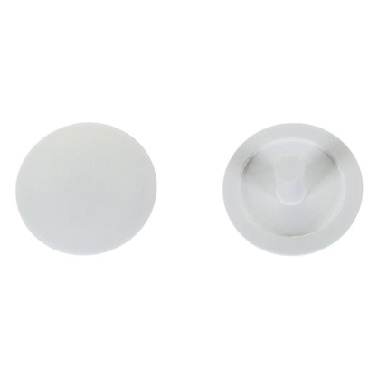 Заглушка на шуруп-стяжку PZ 5 мм полиэтилен цвет белый 40 шт.