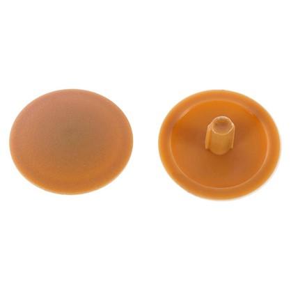 Заглушка на шуруп-стяжку PZ 7 мм полиэтилен цвет бук 50 шт.