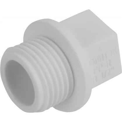 Купить Заглушка резьбовая наружная резьба 1/2 мм полипропилен дешевле