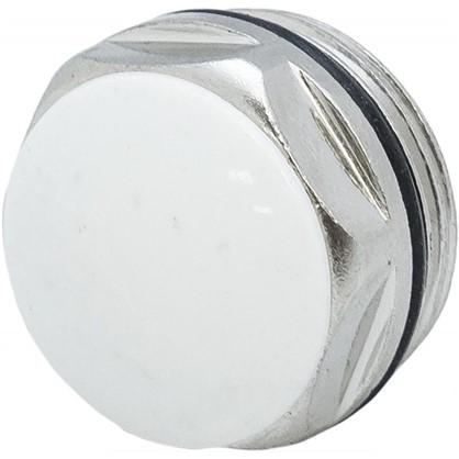 Заглушка с прокладкой наружная резьба 3/4 дюйма цвет никель