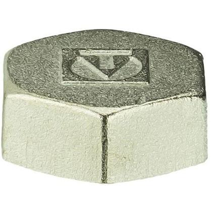 Заглушка Valtec внутренняя резьба 1 мм никелированная латунь