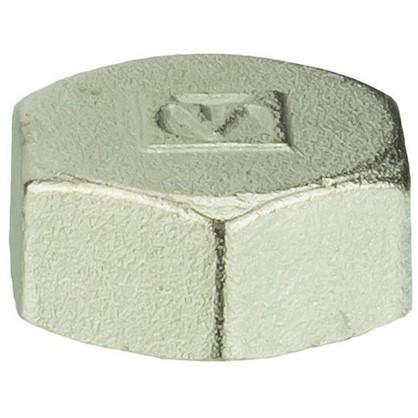 Заглушка Valtec внутренняя резьба 3/4 мм никелированная латунь