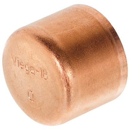 Заглушка Viega 18 мм медь