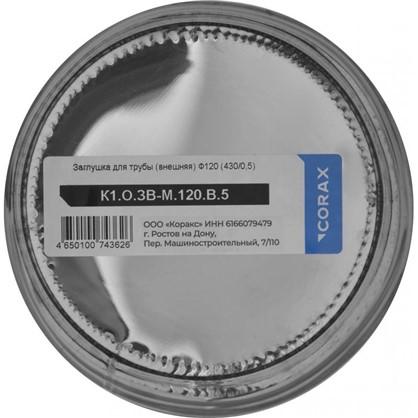Купить Заглушка ввнешняя для трубы 430/0.5 мм D120 мм дешевле