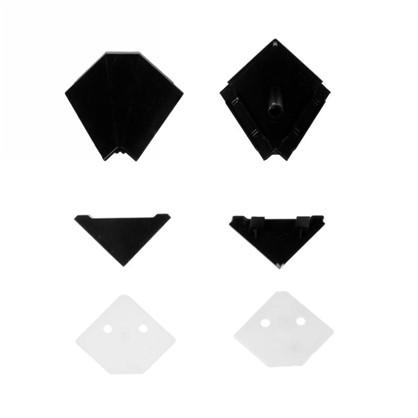 Заглушки к плинтусу 4х5 см цвет черный 6 шт.