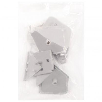 Купить Заглушки к плинтусу цвет серый 6 шт. дешевле