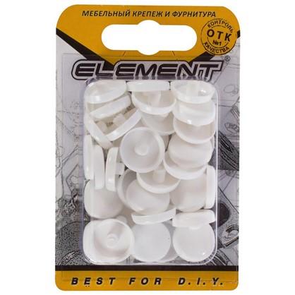 Заглушки рамного дюбеля Element 15 мм пластик цвет белые 35 шт.