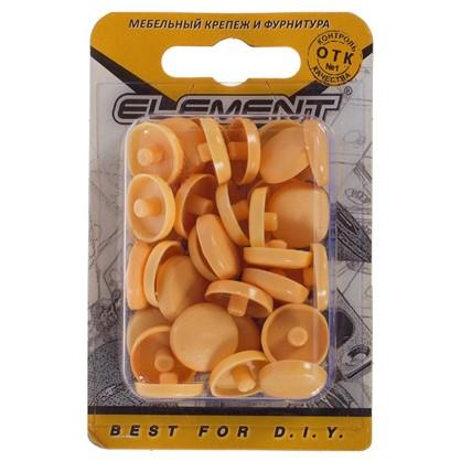 Заглушки рамного дюбеля Element 15 мм пластик цвет сосна 35 шт.